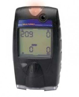 BW 54-48-314NYD MultiPro LEL/O2/Duo-Tox (CO/H2S) Multi-Gas Detector, Rechargeable Battery-