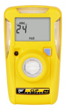 BW BWC3-H GasAlertClip Extreme Single Gas (H<sub>2</sub>S) Detector, 3-Year, 0-100-
