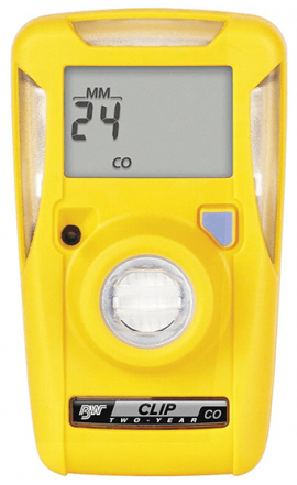 BW BWC3R-M Carbon Monoxide Gas Detector, 3-Year Operation, Low 35ppm/High 200ppm Set Point-