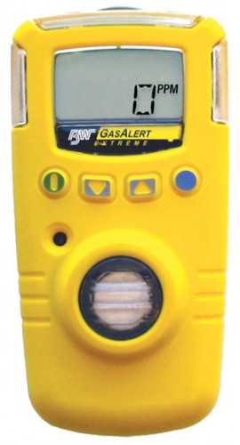 BW GAXT-S-DL GasAlert Extreme Single Gas Detector, Sulfur dioxide (SO<sub>2</sub>), 0 to 100ppm-
