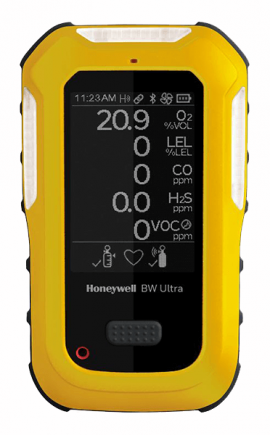 Honeywell BW Ultra Multi-Gas Detector, O<sub>2</sub>, LEL, H<sub>2</sub>S, H<sub>2</sub>S, CO<sub>2</sub> IR-