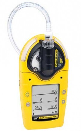 BW M5PID-XWQY-R-D-D-Y-N-00 GasAlertMicro VOC/LEL/O2/H2S/CO 5-Gas PID Detector, Rechargeable Battery and Pump-